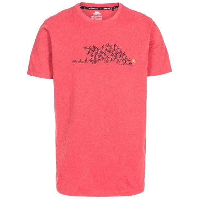 Borlie Men's Printed T-Shirt in Red