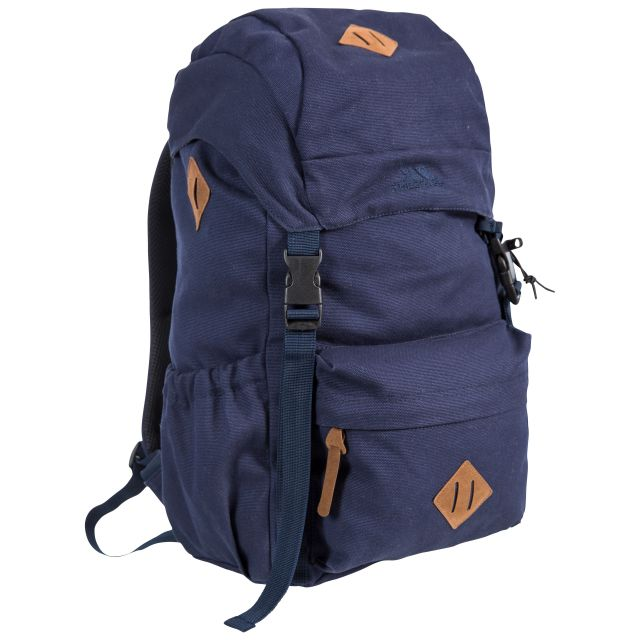 Braeriach 30L Canvas Backpack in Dark Navy, Front view