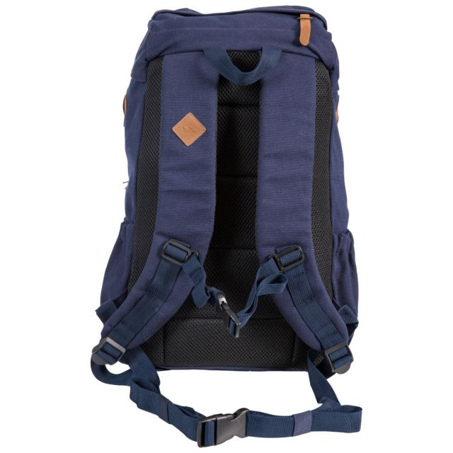 Trespass 30L Canvas Backpack in Navy Braeriach