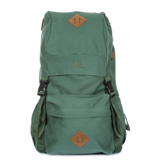 Braeriach 30L Canvas Backpack in Olive - OLI, Front view