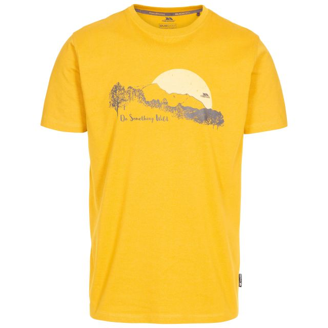 Bredonton Men's Printed T-Shirt in Yellow