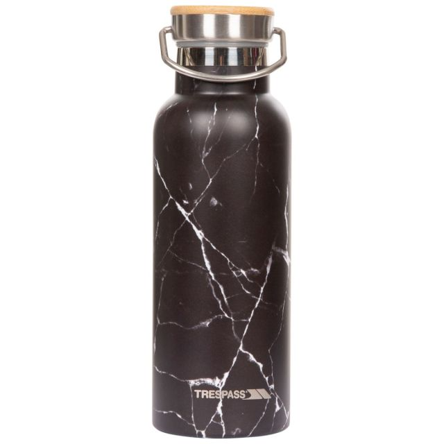 Trespass Thermal Flask Bottle Breen Black, Front view