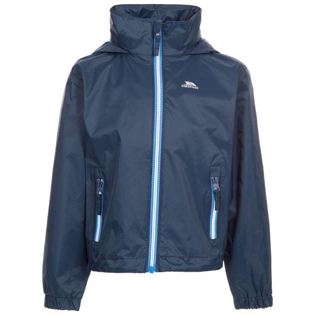 Trespass Kids Waterproof Jacket with Hood Breathable Briar Navy