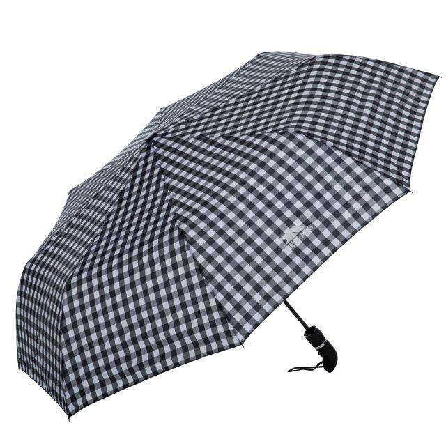 Check Compact Umbrella in Black