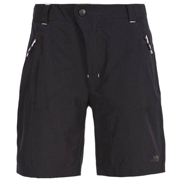 Brooksy Women's Quick Dry Active Shorts in Black