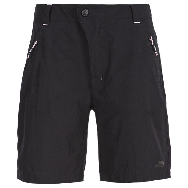 Brooksy Women's Quick Dry Active Shorts in Black