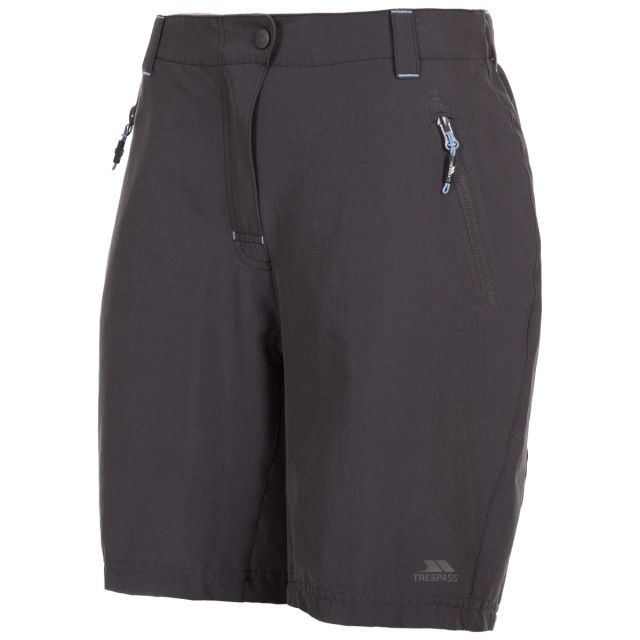 Brooksy Women's Quick Dry Active Shorts in Dark Grey