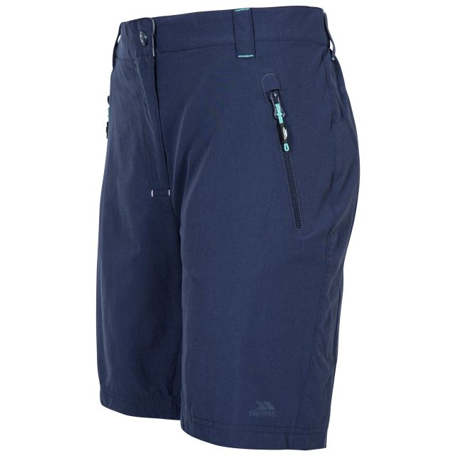 Brooksy Women's Quick Dry Active Shorts in Navy