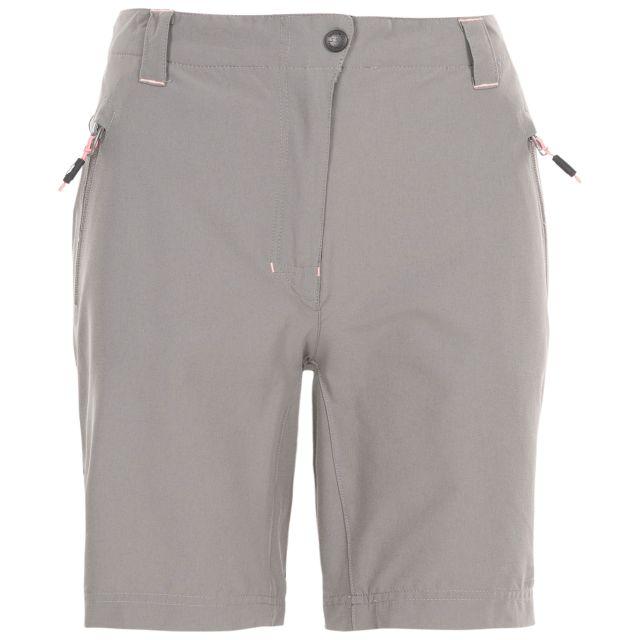 Brooksy Women's Quick Dry Active Shorts in Light Grey