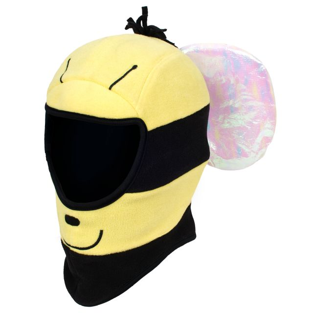 Bumble Kids' Novelty Balaclava in Yellow, Hat at angled view