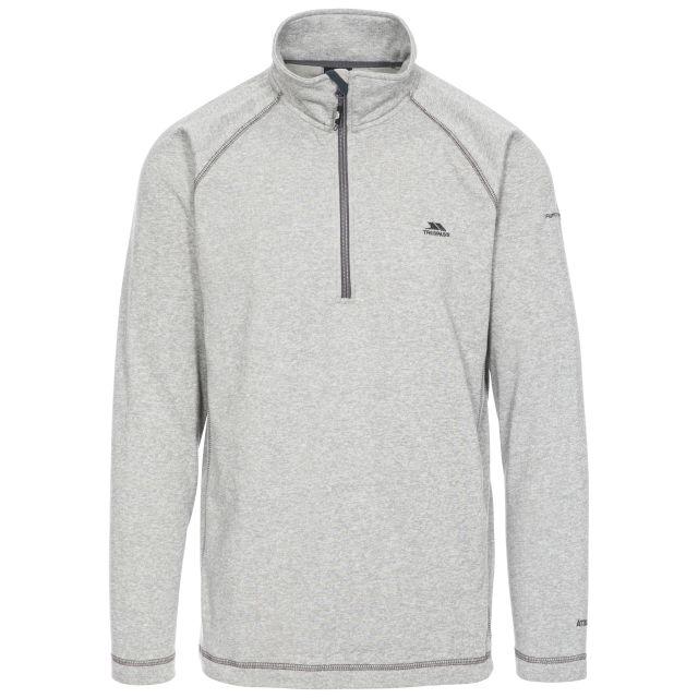 Bungy Men's 1/2 Zip Fleece in Light Grey