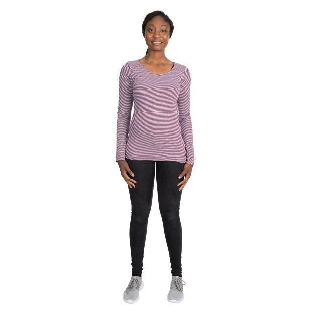Caribou Women's Striped Long Sleeve T-Shirt in Purple