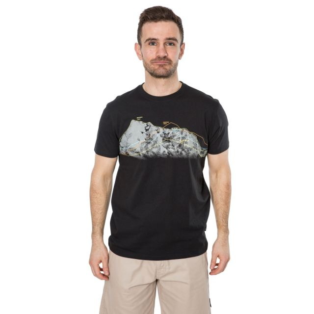 Cashing Men's Printed Casual T-Shirt in Black