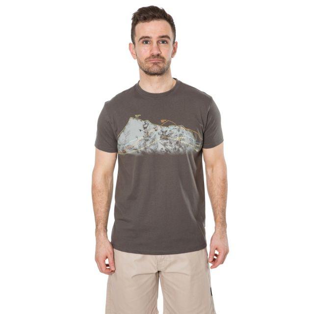 Cashing Men's Printed Casual T-Shirt in Khaki