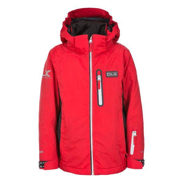 Castor Kids' DLX RECCO Ski Jacket in Red
