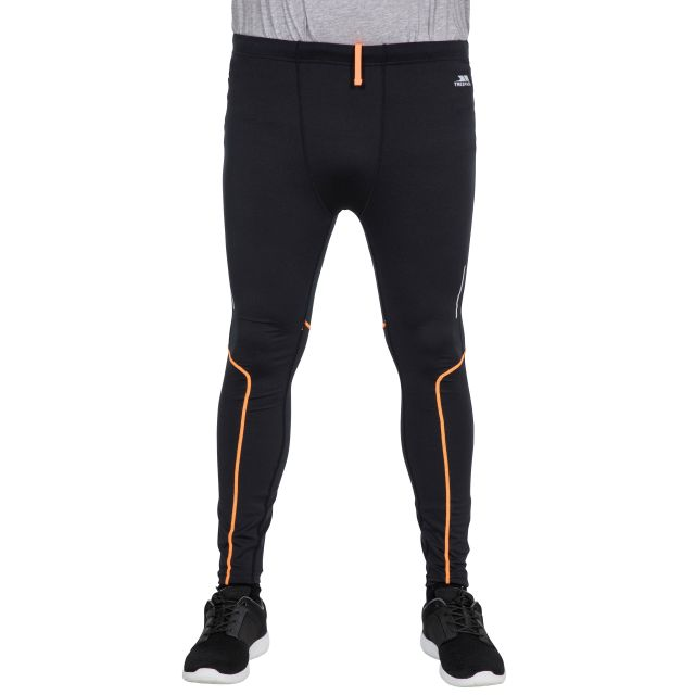 Celand Men's Full Length Quick Drying Sports Leggings in Black