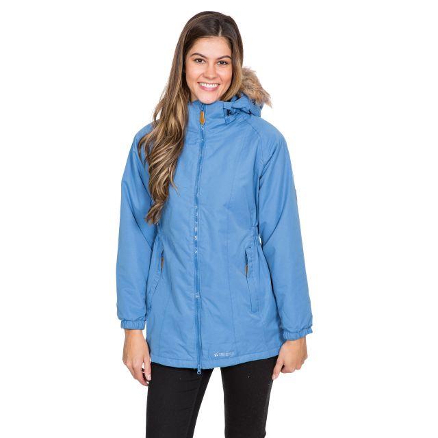 Celebrity Women's Fleece Lined Parka Jacket in Blue
