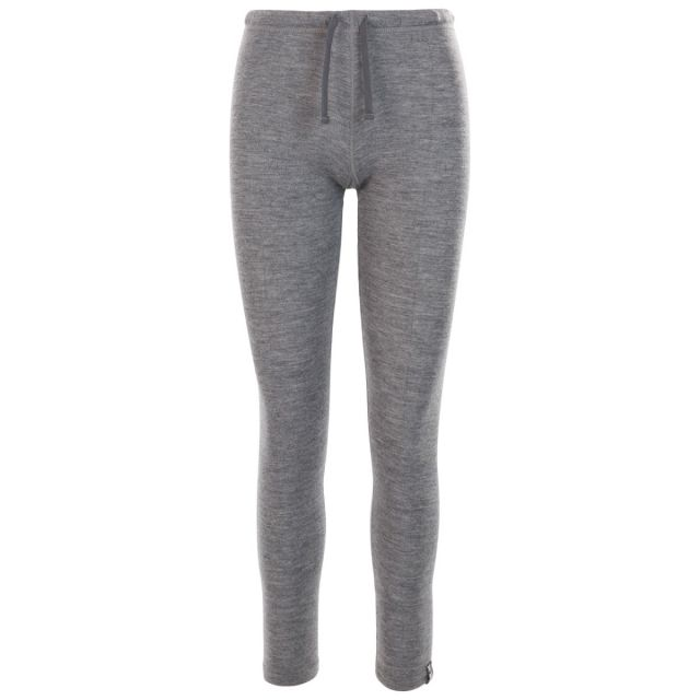 Chara Women's DLX Thermal Trousers in Grey, Front view on mannequin