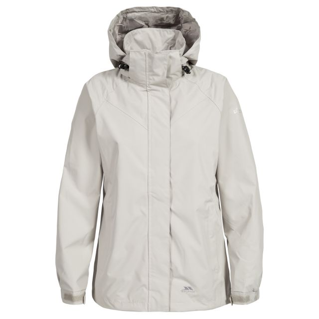 Trespass Womens Waterproof Jacket Charge in Beige