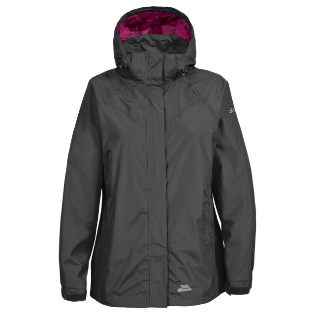 Trespass Womens Waterproof Jacket Charge in Black