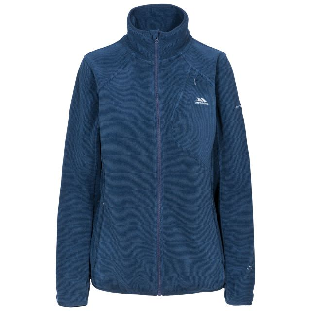 CIARAN FEMALE FLEECE JACKET IN NAVY, Front view on mannequin