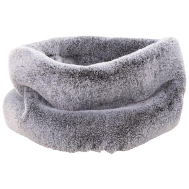 Women's Faux Fur Neck Warmer in Black Fade