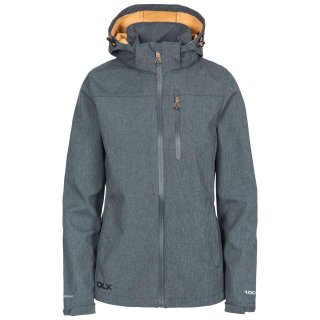 DLX Womens Softshell Jacket Windproof Claren II Grey