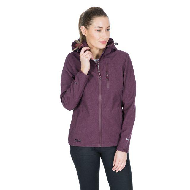 DLX Womens Softshell Jacket Windproof Claren II Purple