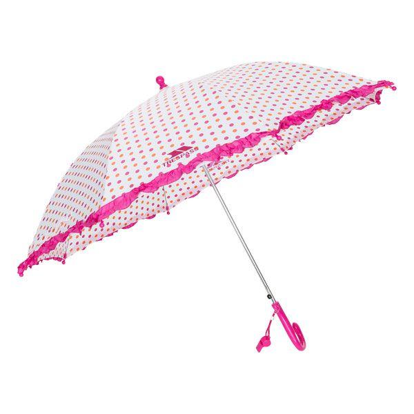 Printed Kids' Umbrella in Peach