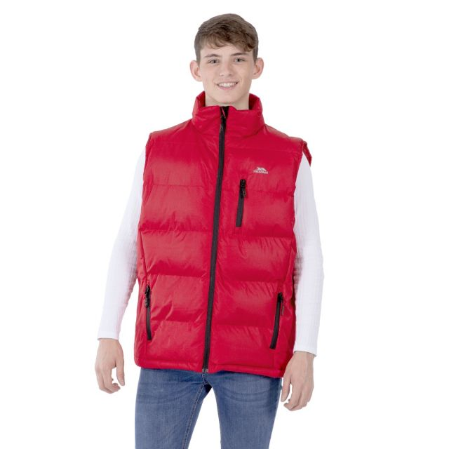 Clasp Men's Padded Gilet in Red