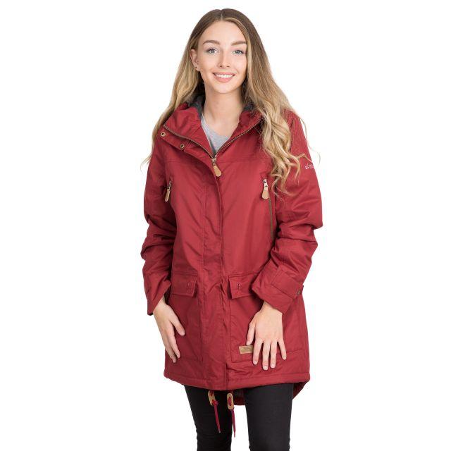 Clea Women's Waterproof Parka Jacket in Red