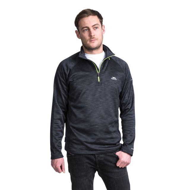 Collins Men's 1/2 Zip Fleece in Black
