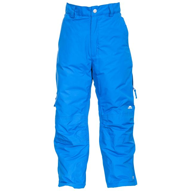 Contamines Kids' Salopettes in Blue, Front view on model