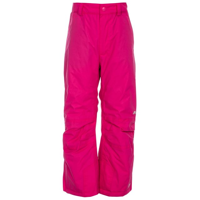Contamines Kids' Salopettes in Pink, Front view on model