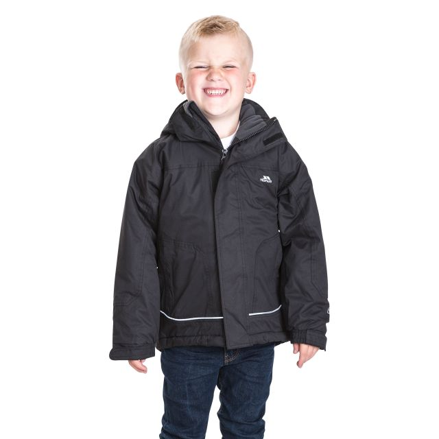 Cornell Kids' Waterproof Jacket in Black