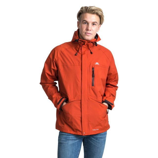 Corvo Men's Waterproof Windproof Jacket in Orange