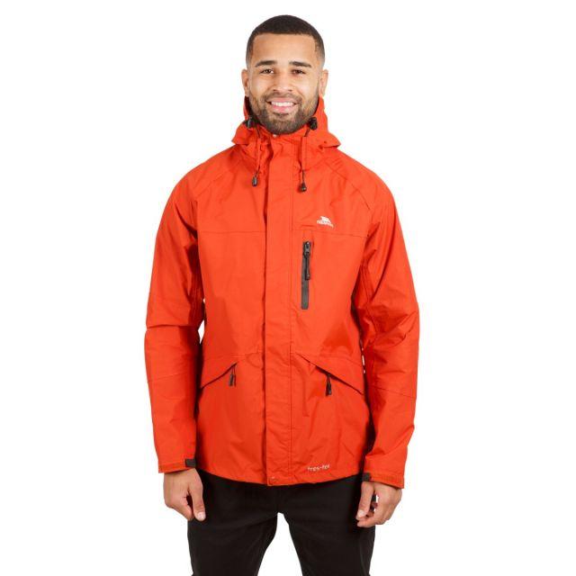 Corvo Men's Waterproof Windproof Jacket in Orange