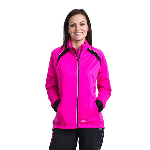 Trespass Womens Active Jacket Windproof Covered Pink