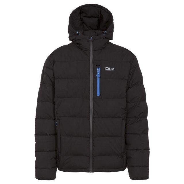 Crane Men's DLX Hooded Down Jacket in Black