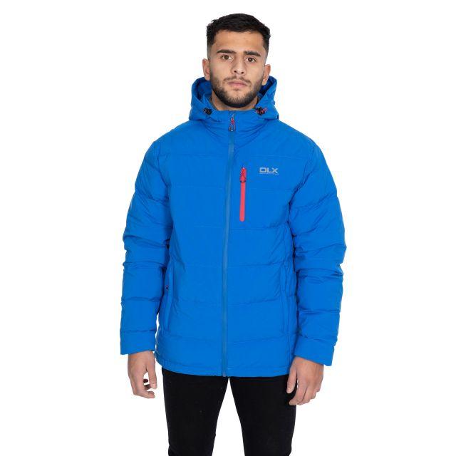 Crane Men's DLX Hooded Down Jacket in Blue