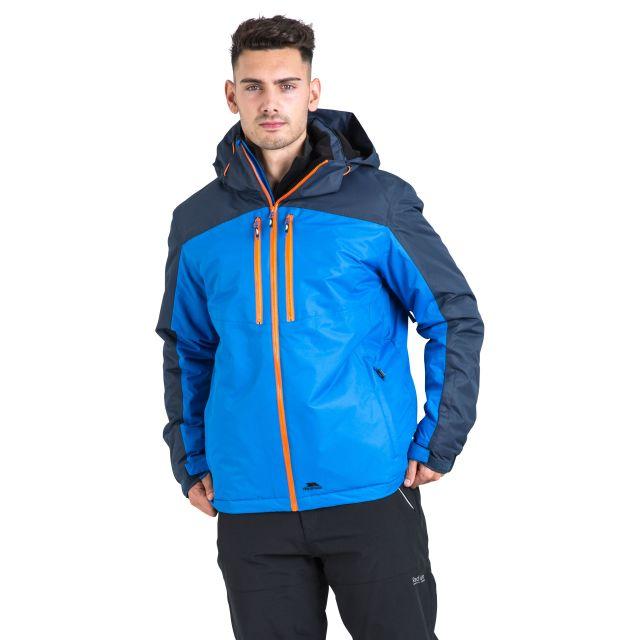Crashed Men's Waterproof Ski Jacket in Blue