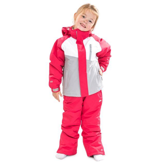 Crawley Kids' Waterproof Ski Suit Set in Pink