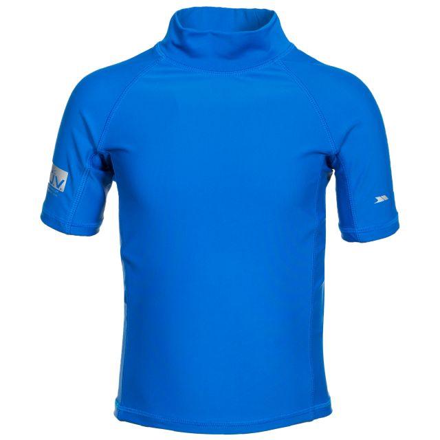 Crew Kids' Rash Guard Swim Top with UV Protection in Blue