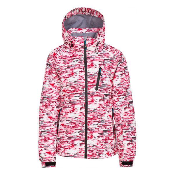 Curvy Women's Padded Waterproof Ski Jacket in Pink