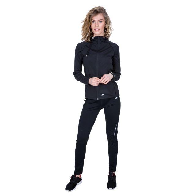 Dacre Women's Hooded Active Jacket in Black