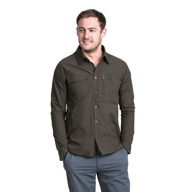 Darnet Men's Mosquito Repellent Shirt in Khaki