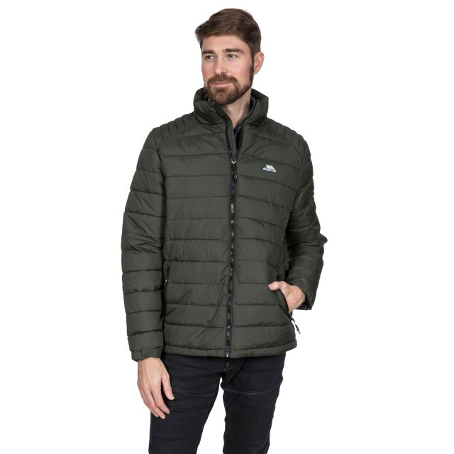 Darrell Men's Padded Casual Jacket in Khaki