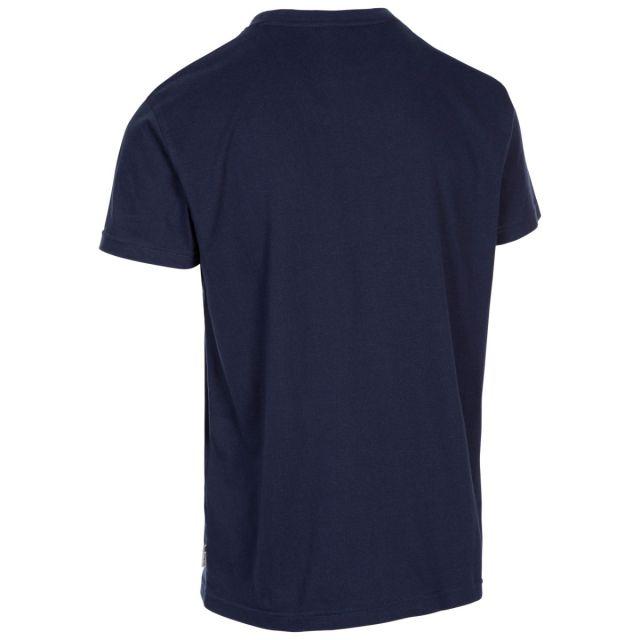 Trespass Men's Casual Short Sleeve Graphic Mountain T-Shirt Daytona Navy