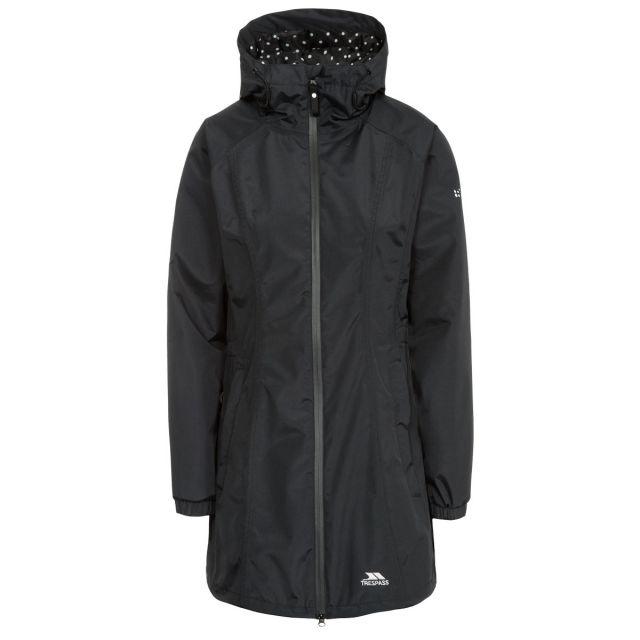 Trespass Womens Waterproof Jacket Long Length Daytrip Black