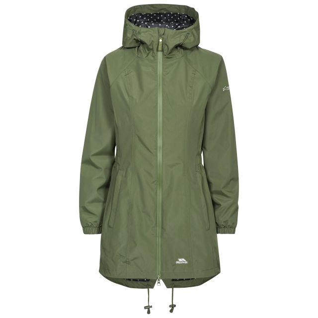 Trespass Womens Waterproof Jacket Long Length Daytrip Moss